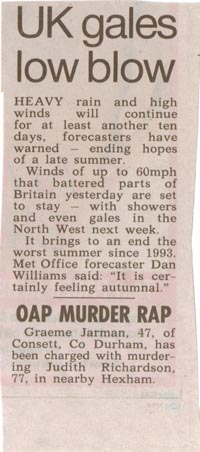 Gale Warning Newspaper Clipping