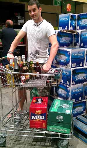Trolley full of booze