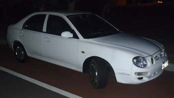 White Car At Night