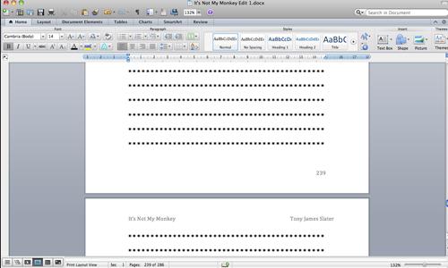 Screen shot of computer error
