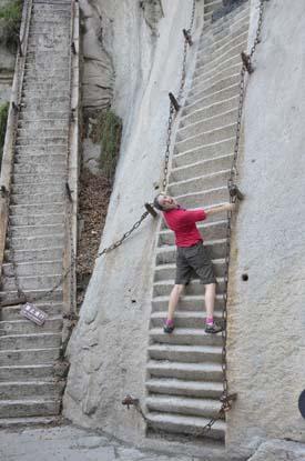 Huashan crazy steps