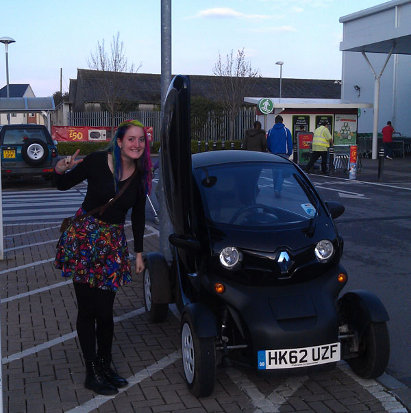 Twizy at ASDA