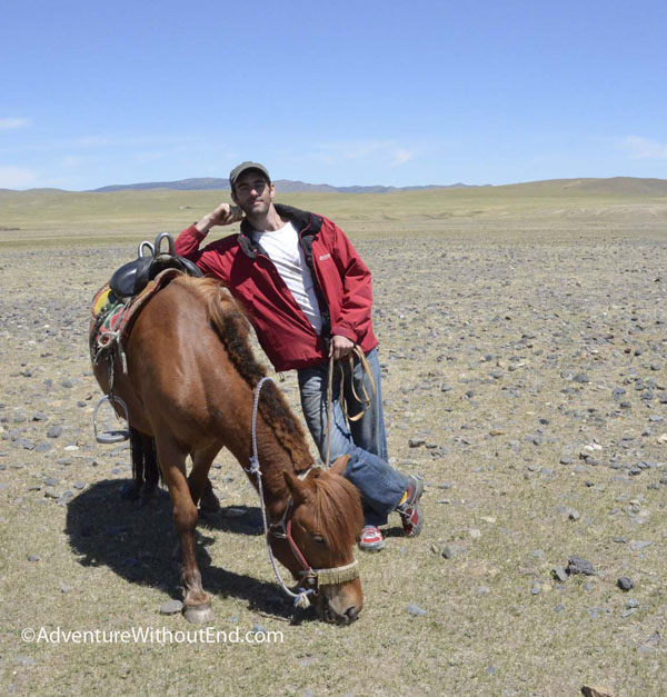 Tony with Mongolian Horse
