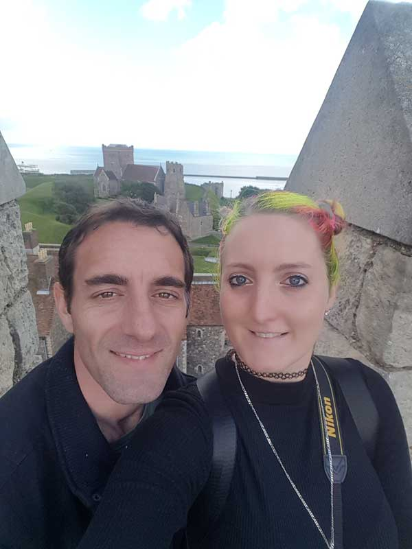Standing on the battlements