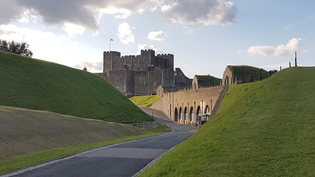 Looking back towards the castle