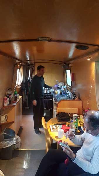 Inside of boat